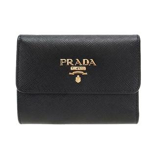 PRADA 普拉达 女士牛皮钱包 1MH025-QWA-F0002 黑色 小号