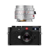 Leica 徕卡 M10 全画幅 微单相机 黑色 35mm F2 ASPH 定焦镜头 银色单头套机