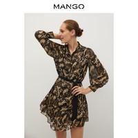 MANGO 77085928 女装印花蝴蝶结连衣裙