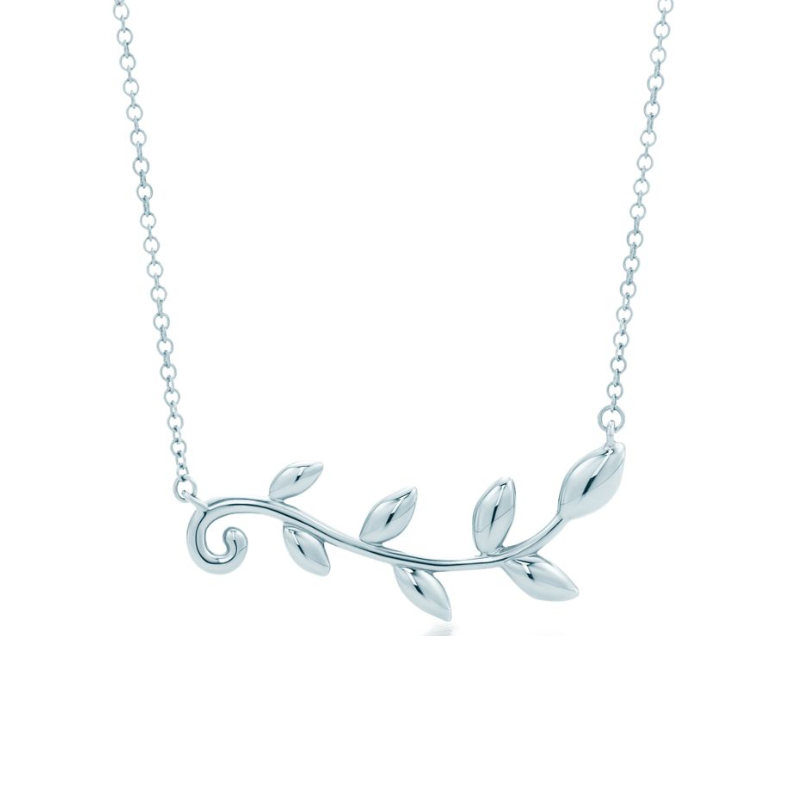Tiffany&Co. 蒂芙尼 31406439 榄叶藤蔓925银项链 45.7cm