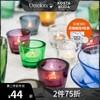 KOSTA BODA 进口水晶玻璃 BRUK北欧简约家用浪漫创意装饰烛台摆件 烛台-浅绿-1只装-120ml