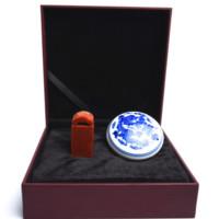 【西泠印社】瓦钮 2.5*2.5*5cm 篆刻 素材 方章 礼盒装 孤山印石