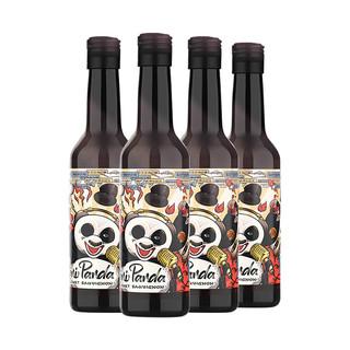 CHANGYU 张裕 红酒菲尼潘达半干红小瓶装188mlx4瓶葡萄酒熊猫