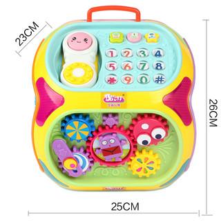 宝丽七面体玩具 益智早教儿童多功能游戏桌宝宝学习1-2-3岁多面体