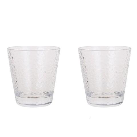 INtrue 加厚锤目纹玻璃杯 300ml 2只