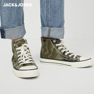 JackJones 杰克琼斯 2201C8508 男士牛仔高邦帆布鞋