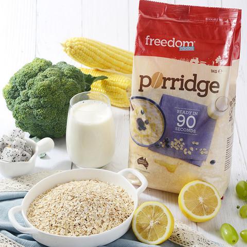 Freedom澳菲顿原味全麦燕麦片即食代餐免煮谷物健身营养早餐1kg