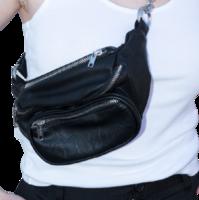 Brandy Melville 男女款皮革腰包 MU777D22N00888 黑色