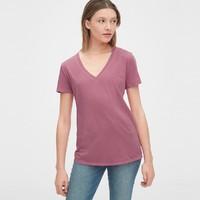 Gap 盖璞 231887 女装V领短袖T恤