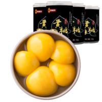 移动专享:林家铺子 果汁黄桃罐头 425g*4罐