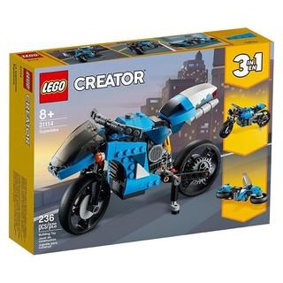 Creator3合1创意百变系列 31114 超级摩托车