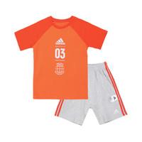 唯品尖货:adidas 阿迪达斯 男婴童两件套  短袖+短裤