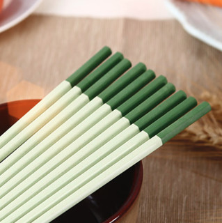 Suncha 双枪 dk7003 稻谷壳筷子 5双 绿拼色