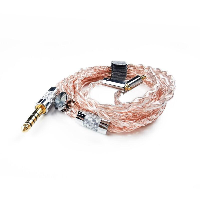 Astrotec 阿思翠 ATC系列 ATC6 4.4mm 单晶铜耳机镀银线 1.2m 金桐