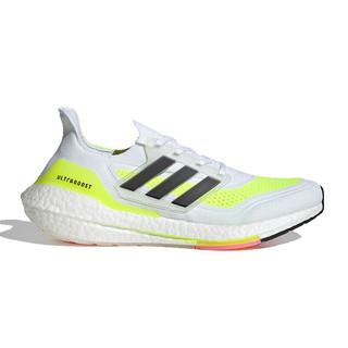 adidas 阿迪达斯 Ultraboost 21 男子跑鞋 FY0377 白色/荧光黄/黑色 45