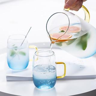 佳佰 冷水壶 大容量耐热玻璃杯喝水杯女泡茶杯子男家用耐高温玻璃凉水壶单个装 SP43000-JB