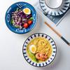 尚行知是 餐具碗碟套装网红景德镇陶瓷釉下彩餐具创意日式风套装面碗家用陶瓷碗筷 日式混色