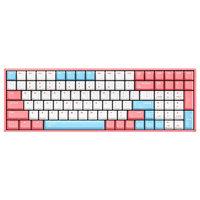 IQUNIX F96 100键 有线机械键盘 白桃奶昔 Cherry红轴 RGB