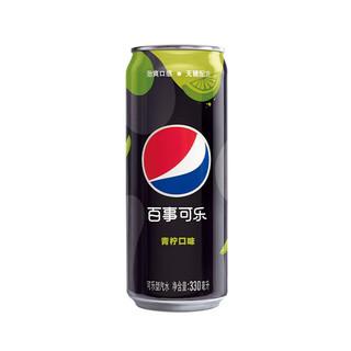 PEPSI 百事 可乐无糖碳酸汽水 330mL*12罐