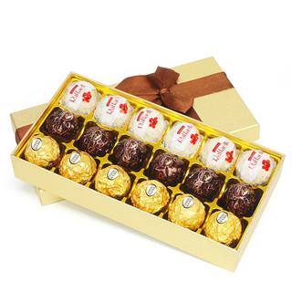 FERRERO ROCHER 费列罗 巧克力 18粒 三莎礼盒装