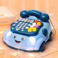 贝杰斯 婴儿玩具0-1岁儿童电话机宝宝玩具手机音乐玩具新生儿男孩女孩婴幼儿玩具 蓝