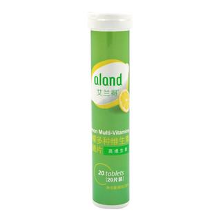 艾兰得多种维生素维c泡腾片20片甜橙柠檬味成人儿童果味VC泡腾片 甜橙味*1管