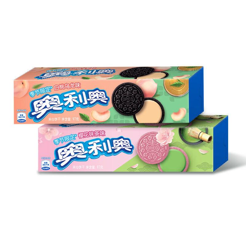 OREO 奥利奥 夹心饼干 白桃乌龙味