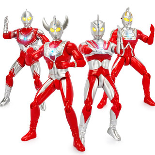 大号奥特曼玩具 迪迦赛罗杰克披风可动变形超人玩具手表公仔 送儿童生日礼物玩具 12寸声光泰罗奥特曼