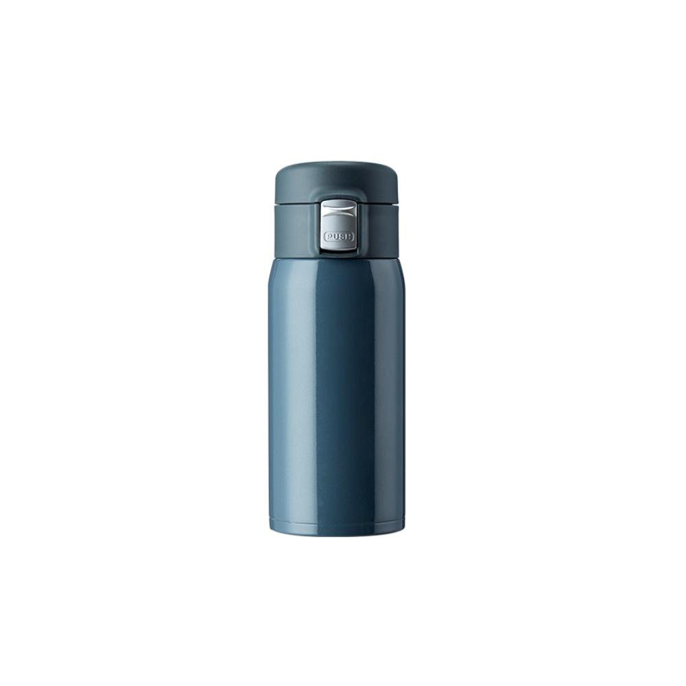 淘宝心选双层不锈钢真空保温杯370ml便携马卡龙色 黑色小号
