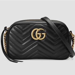 黑卡会员 : GUCCI 古驰 GG Marmont系列 447632 女士绗缝相机包 小号