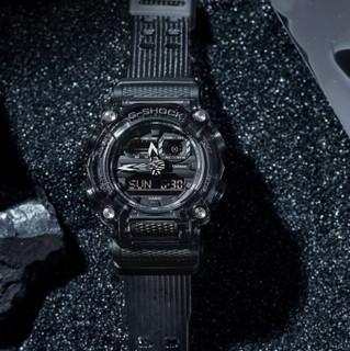 CASIO 卡西欧 G-SHOCK新冰韧灰色透明系列 49.5毫米电子腕表 GA-900SKE-8A