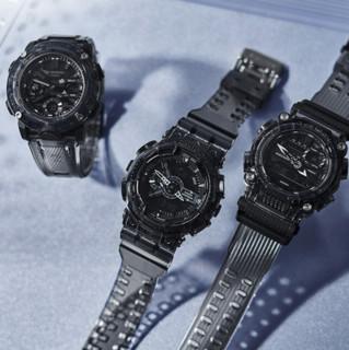 CASIO 卡西欧 G-SHOCK新冰韧灰色透明系列 电子腕表