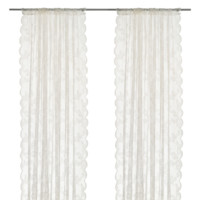 IKEA 宜家 ALVINE SPETS 艾尔文 斯佩兹 窗帘 145*250cm 灰白
