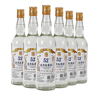 台湾风味高粱酒高度白酒 整箱600ml*6瓶