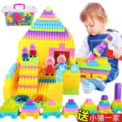 FACE MINI 儿童积木大颗粒玩具 大号80块+图纸+贴画
