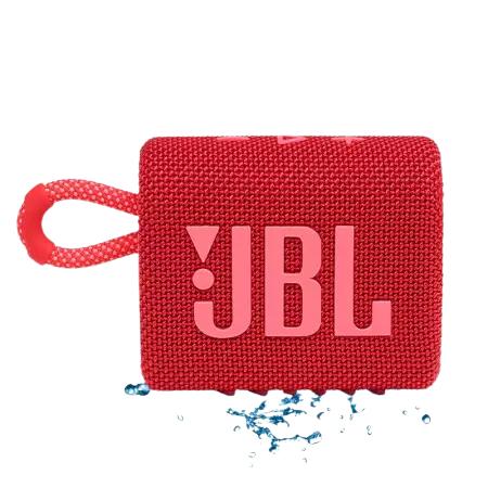 JBL 杰宝 GO3 音乐金砖三代 便携式蓝牙音箱 低音炮 户外音箱 迷你小音响 极速充电长续航 防水防尘设计 庆典红