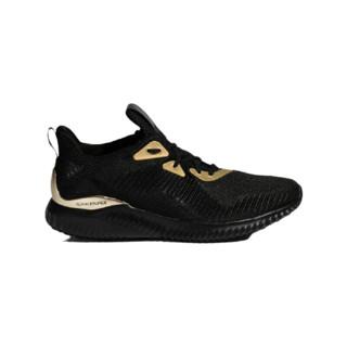 adidas 阿迪达斯 Alpha Bounce 1 中性跑鞋 FZ2196 黑色/金金属 43