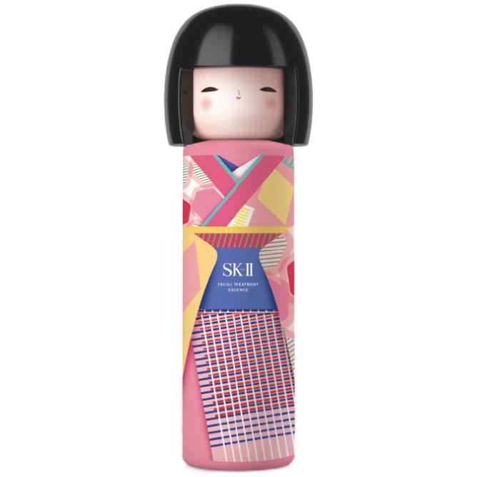 SK-II 春日娃娃限定版(彩)神仙水230ml精华液护肤品化妆品礼盒(礼盒内赠清莹露 洗面奶)skiisk2
