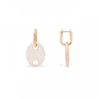 APM Monaco ENCHAINEE系列 RE13023OX 镶石水手环片925银耳环