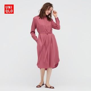UNIQLO 优衣库 优衣库 女装 花式衬衫式连衣裙(长袖) 433651 UNIQLO