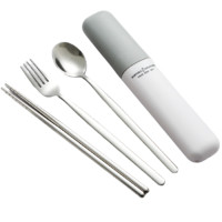 SenseYo 不锈钢餐具 3件套 高冷灰