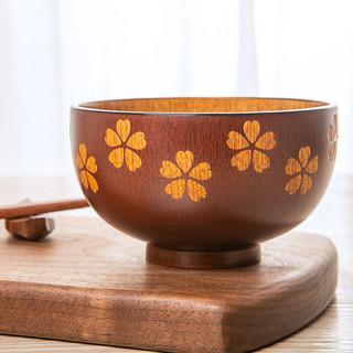 竹木本记 枣木碗 4英寸 樱花