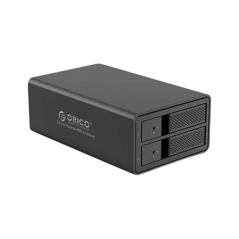 ORICO 奥睿科  3.5英寸2盘位SATA移动硬盘盒 USB3.0 9528U3-BK-BP