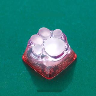 ZOMO 透明猫爪 3D打印圣诞猫爪透光树脂键帽 圣诞绿