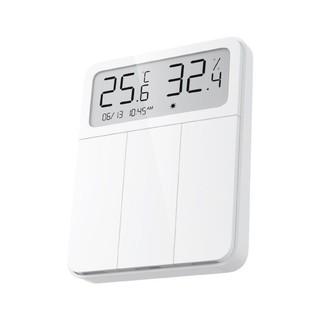 小米米家屏显开关 智能三开单控 清晰大屏 温湿度传感器 手机远程控制 无需布线