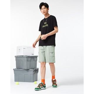 A21 R412116026 男士橡筋腰短裤