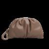 MANGO 芒果 女士褶皱手拿包 87050088 淡/浅褐色 小号