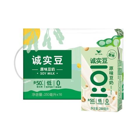 Uni-President 统一 诚实豆 原味豆奶 250ml*16盒