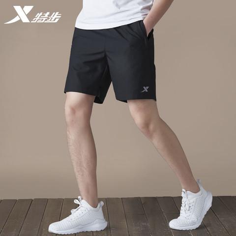 特步运动裤男短裤夏季速干健身休闲跑步七分裤男士大码宽松五分裤
