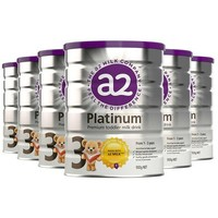 a2 艾尔 A2 白金系列 婴幼儿配方奶粉 3段 900g/罐*6
